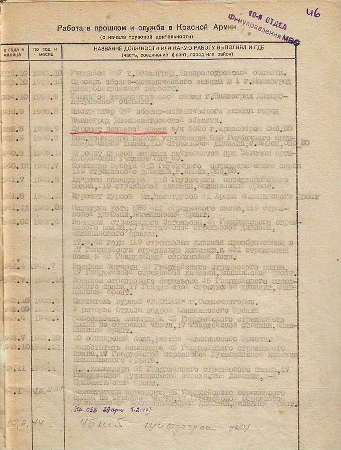 Личный листок по учёту кадров стр 3